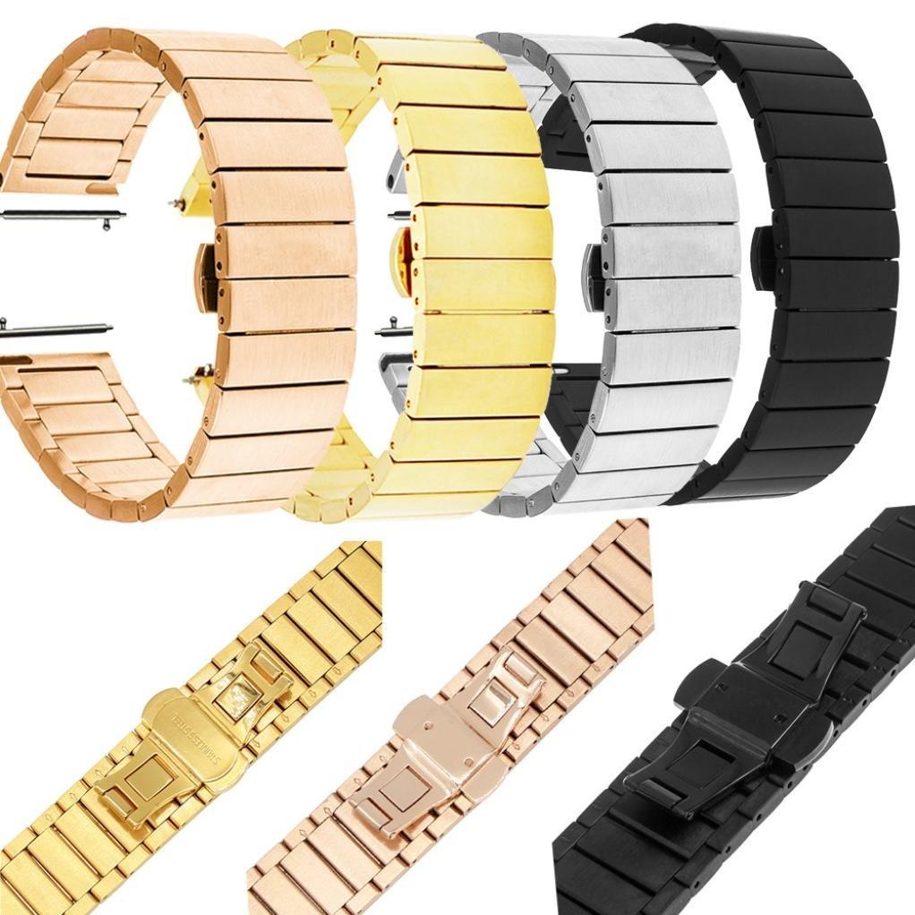 Gotd交換用ステンレススチールMetal Claspスマートウォッチバンドストラップfor Huawei Watch 2 B074QPBH7Gブラック