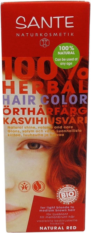 SANTE Tinte Vegetal - Rojo Natural - Sin peróxido ni amoniaco ...