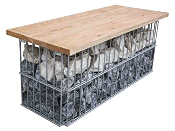 Awesome Douglas Fir Gabion Bench Metal Bench Garden Bench Park Bralicious Painted Fabric Chair Ideas Braliciousco
