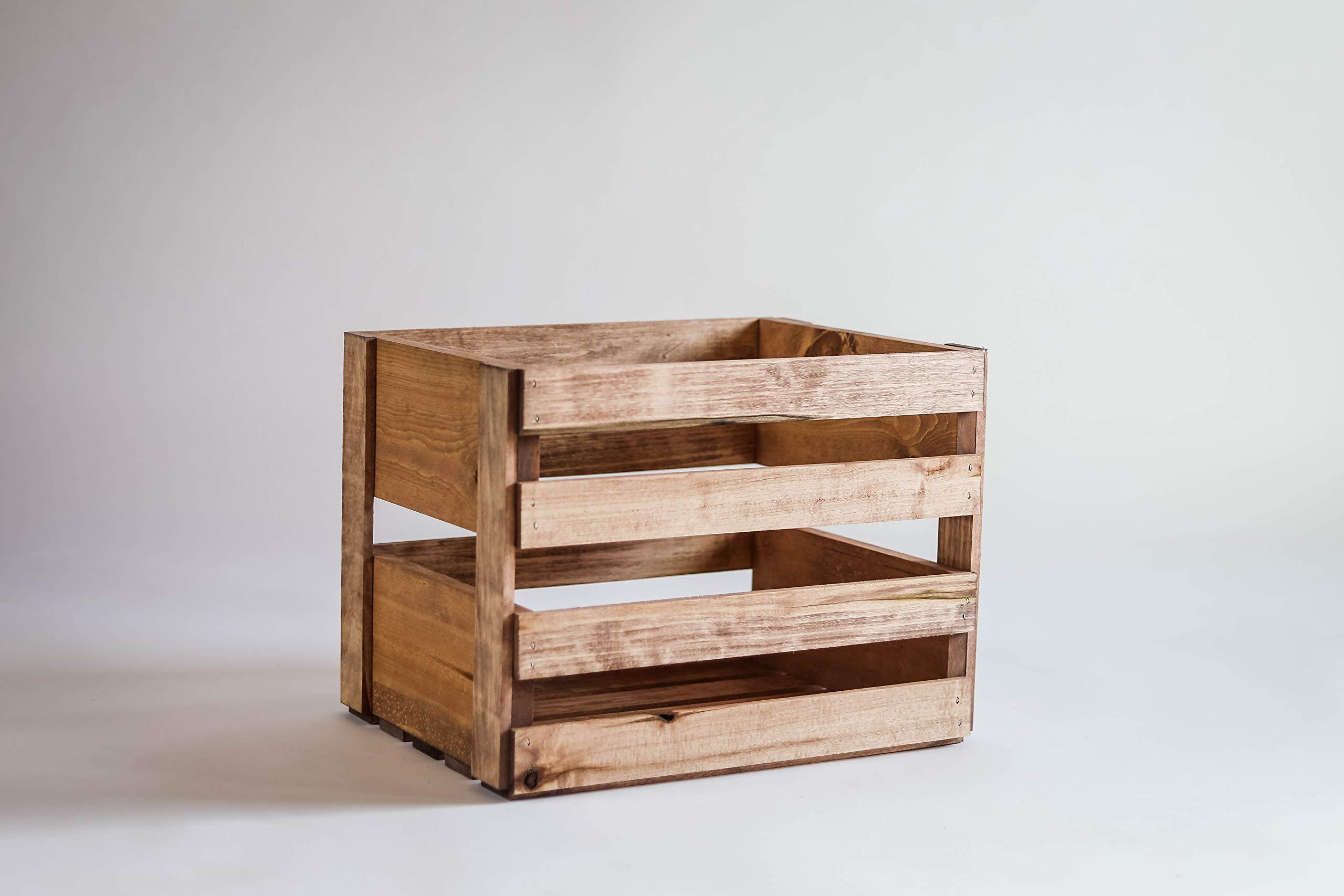 Darla'Studio 66 Vinyl Record Holder Wood Crate by Darla'Studio 66