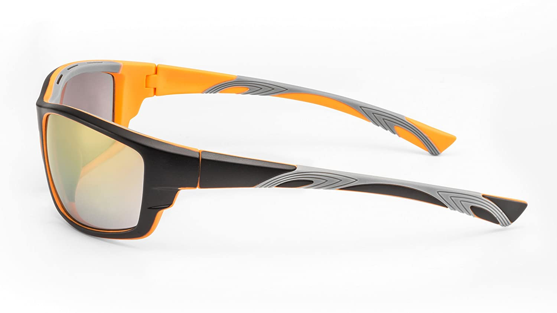 Verspiegelte Sport Sonnenbrille für Herren aus flexiblem Zwei-Komponenten Kunststoff F3020307 aZbqy0z59O