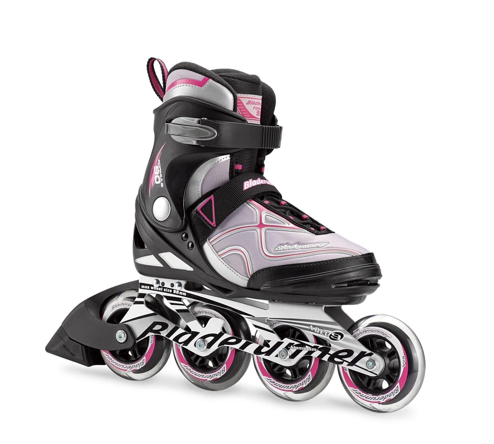 Bladerunner by Rollerblade Formula 90 Women's Adult Fitness Inline Skate, Black and Purple, Inline Skates by Bladerunner