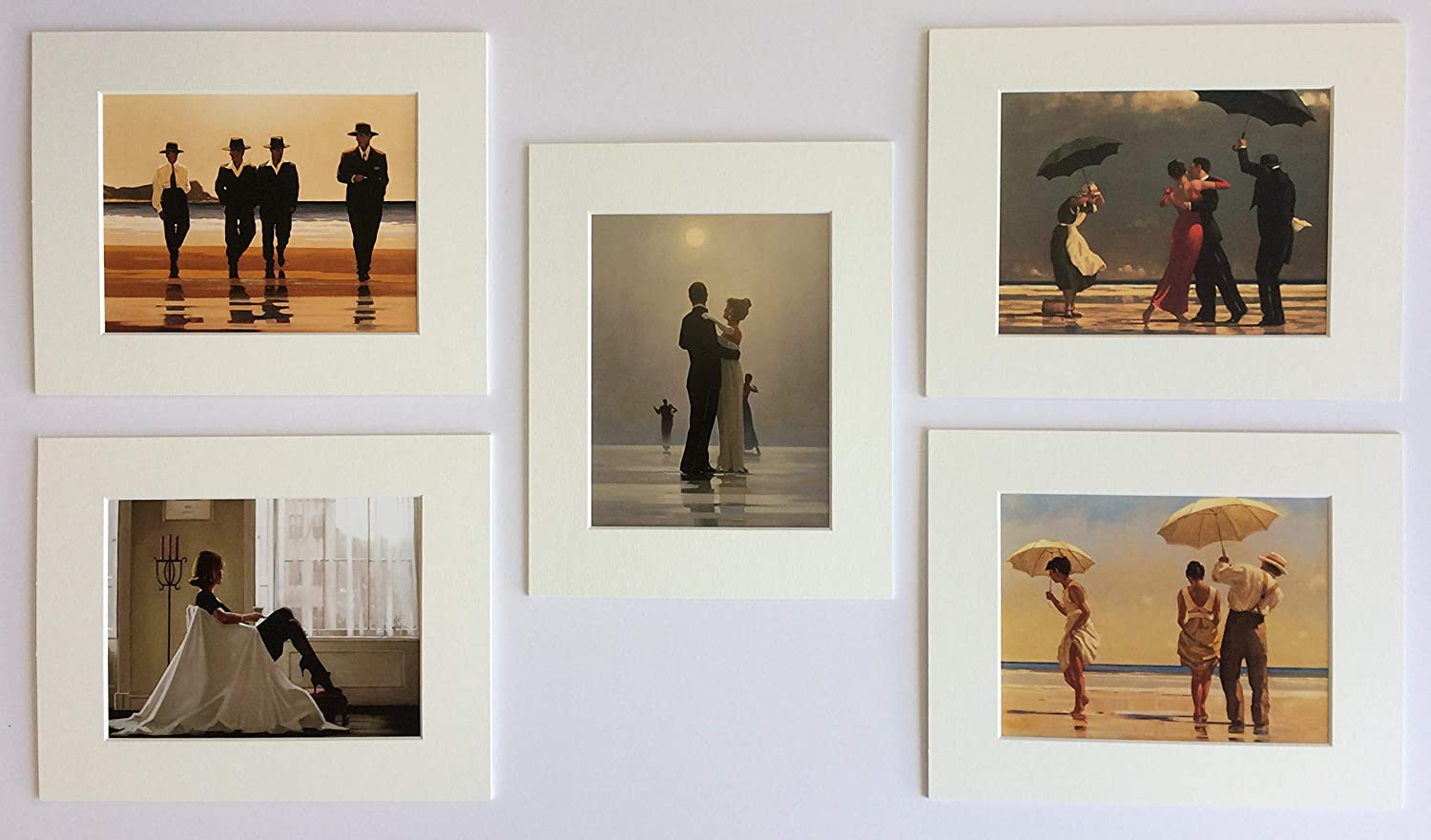 """Jack Vettriano Mounted Art Prints 10/"""" x 8/"""" Choose From 60 Designs WHITE MOUNT"""