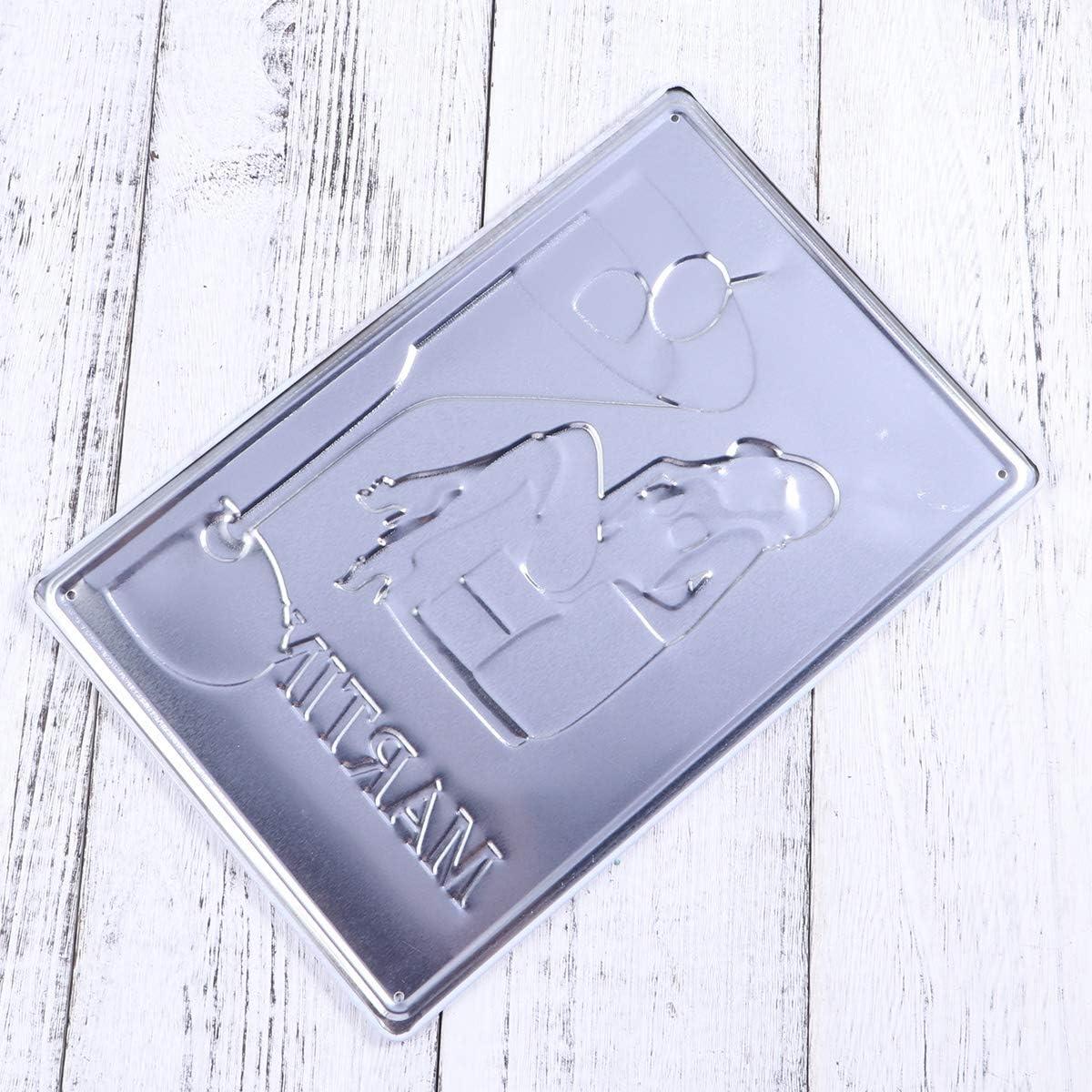 LIOOBO Targa depoca retr/ò Decorazione murale per bar Cucina da pub Casa Targa in metallo vintage Targhe in metallo Quadro Plaque MARTINI