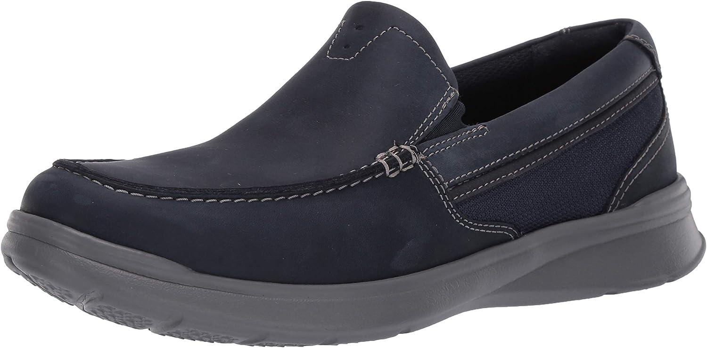 Clarks Cotrell Facile Bleu Marine Cuir Basse à Enfiler Homme Mocassin Chaussures 261452987
