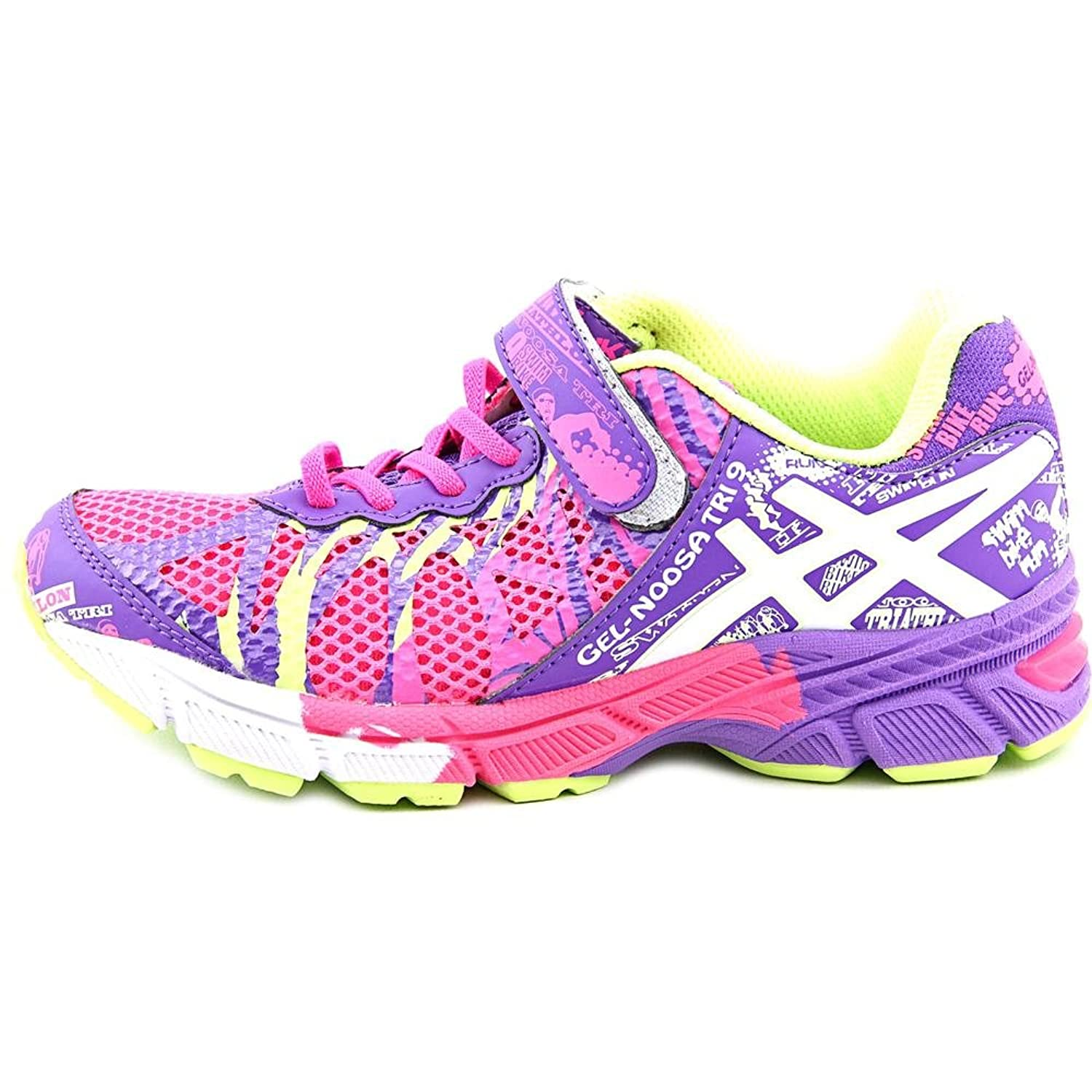Amazon.com | Asics Gel-Noosa Tri 9 PS Youth Round Toe Synthetic Pink  Sneakers (2 M US Little Kid, PINK/WHITE/ZEBRA) | Running