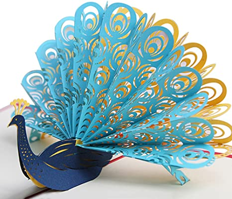 Origami Peacock 3D | How to make Paper Peacock Step by Step Easy ... | 400x466