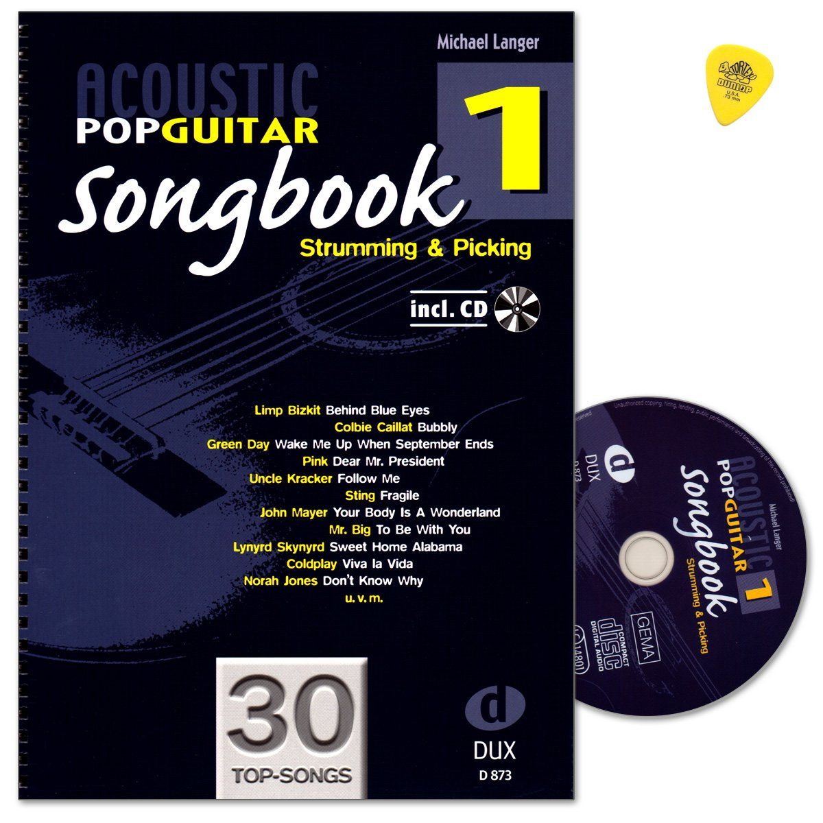 Acoustic Pop Guitar – SONGBOOK 1 de Michael Langer – à chaque ...
