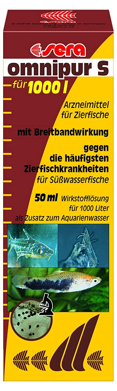 Sera 02170 omnipur S 50 ml - Arzneimittel mit Breitbandwirkung gegen die häufigsten Zierfischkrankheiten im Süßwasser 43155