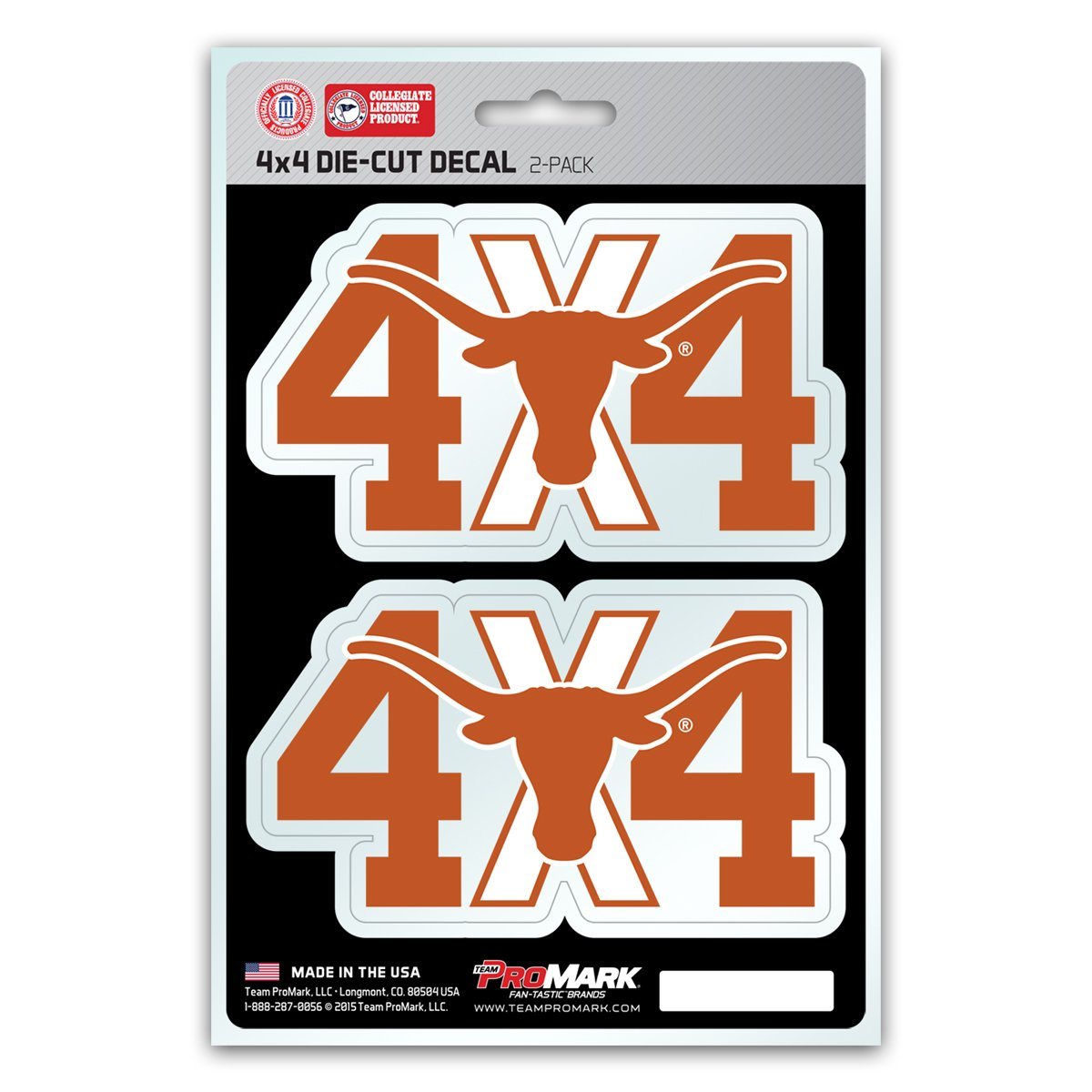 2-Pack NCAA 4x4 Team Decal
