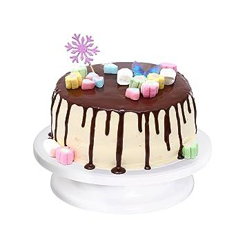 supporto torta] Ohuhu® torta piatto girevole/supporto torta ...