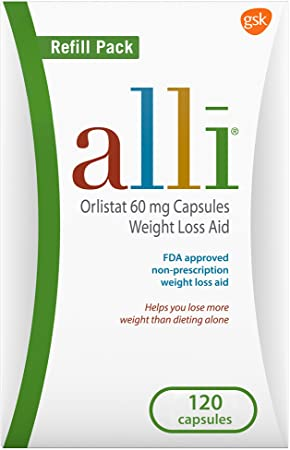 Amazon Com Alli Weight Loss Diet Pills Orlistat 60 Mg Capsules Non Prescription Weight Loss Aid 120 Count Refill Pack Health Personal Care