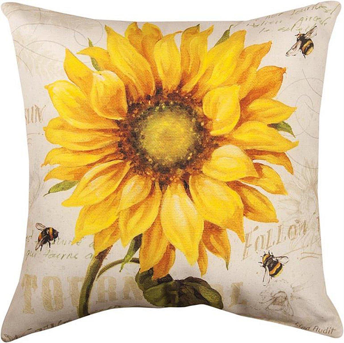 Amazon.com: Decorative Pillows - Provencal Sunflower Pillow - 17 ...