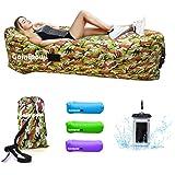 Gaintpow - Tumbona inflable con tejido más fuerte, resistente al agua, portátil, para exterior, camping, senderismo,…