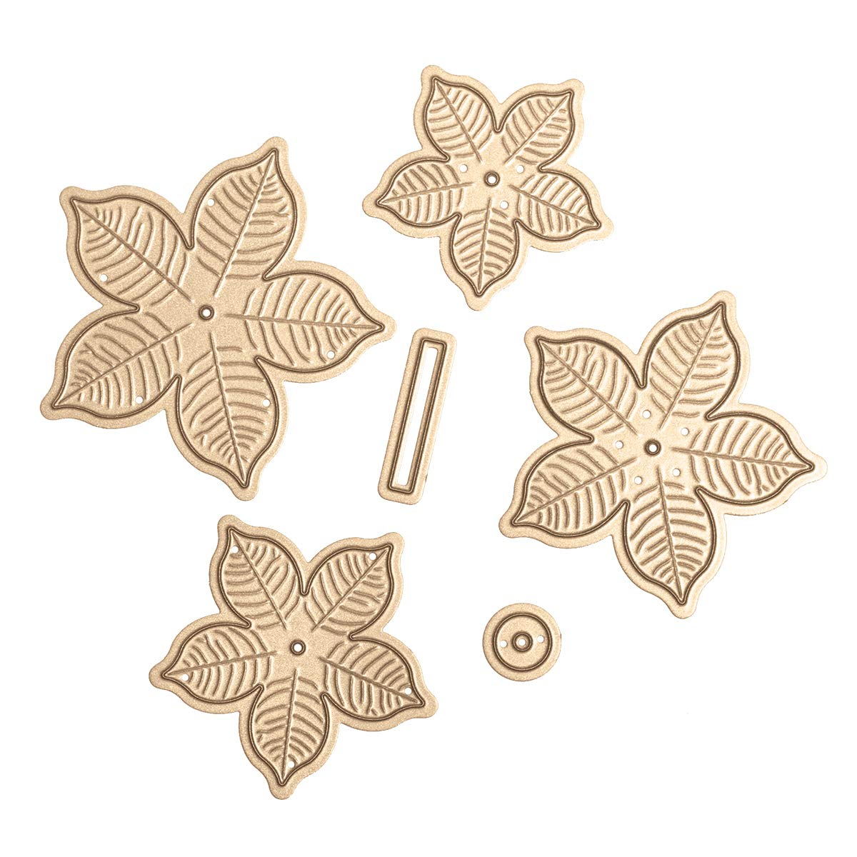 Spellbinders S4-960 Shapeabilities Cinch and Go Poinsettia Etched//Wafer Thin Dies Metal
