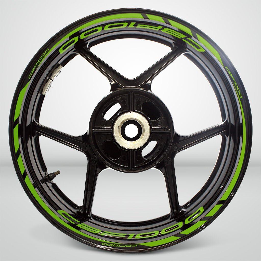 2 Tons Am/éthyste Jante de Moto d/écalcomanies Autocollant Accessoire pour Honda CBF 1000