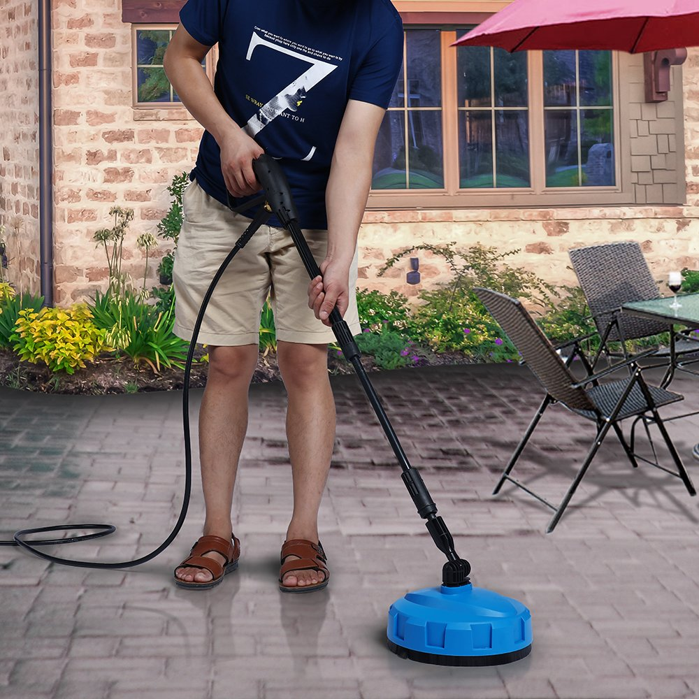SUNGOLDPOWER Electric High Pressure Washer Max 2400PSI 1.76 GPM with (5) Nozzle Adapter with Hose Reel Soap Dispenser Patio Cleaner by SUNGOLDPOWER (Image #7)