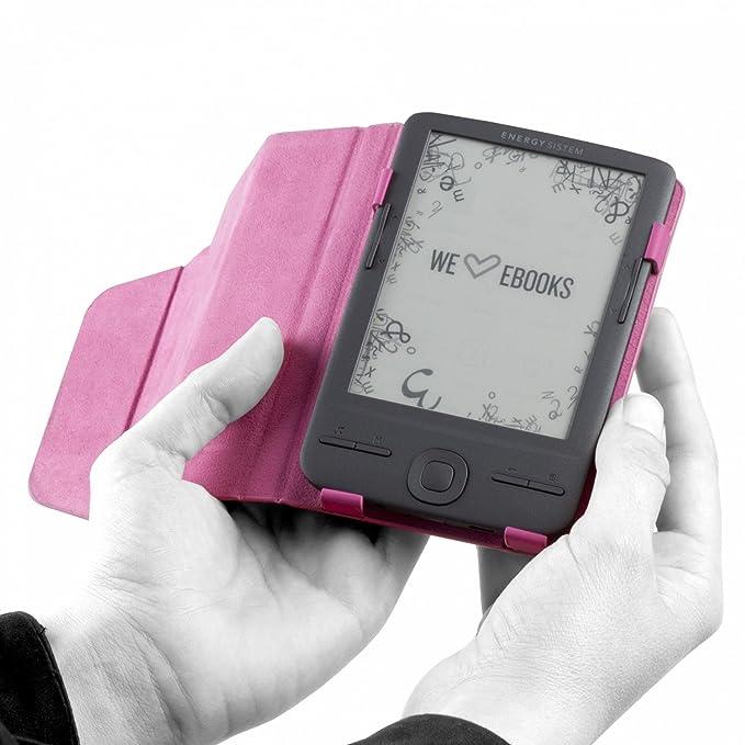 Energy Sistem - Funda exclusiva eReader e4 Mini, color rosa ...