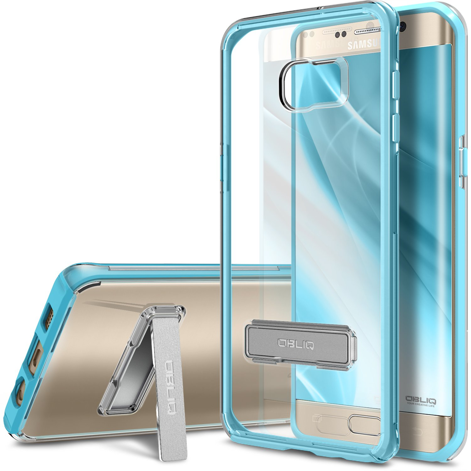 Galaxy S6 Edge Plus Case, OBLIQ [Naked Shield][Clear] - with Kickstand Thin Slim Fit TPU Bumper Hard Hybrid Shock Resist Protective Crystal Clear Case for Galaxy S6 Edge+ Mobile Life Group OBGS6EPNKSHD04