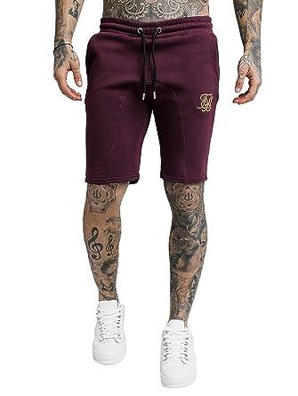 Sik Silk SS-14333 Sport Fit Shorts - Burgundy: Amazon.es: Ropa y ...