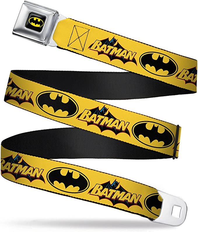 Buckle-Down Seatbelt Belt 1.5 Wide DC Comics Trinity Group Pose//Logos 24-38 Inches in Length