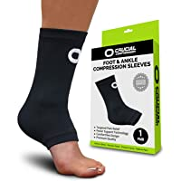 Ankle Brace Compression Support Sleeve (1 Pair) - BEST Ankle Compression Socks for...