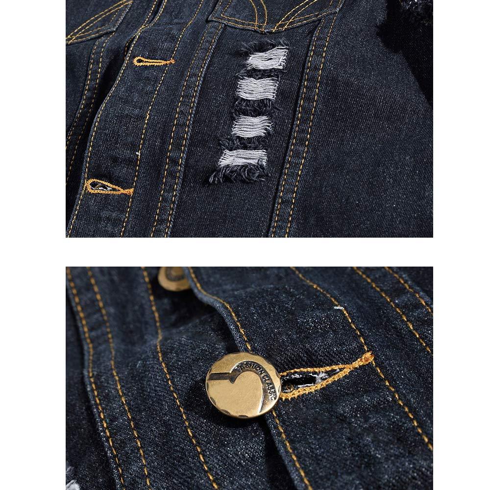 Mens Slim Fit Retro Ripped Demin Jeans Gilets Jacket Vest Waistcoat Top Vest