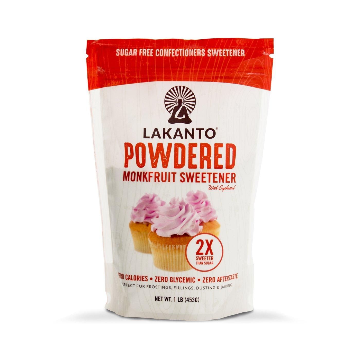 Lakanto Monkfruit 2:1 Powder Sugar Substitute | 1 Ib NON GMO (Classic Powder)
