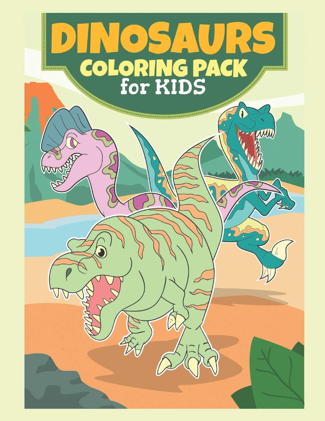 Dinosaurs Coloring Pack For Kids: Coloring Book For kids,Birthday Party Activity, Dino Coloring Book,60 Coloring Pages, 8 1/2 x 11 inches, Dinosaur ... Kids 4-8 Years Old, Dinosaurs Coloring Pages.: Amazon.es: MH,