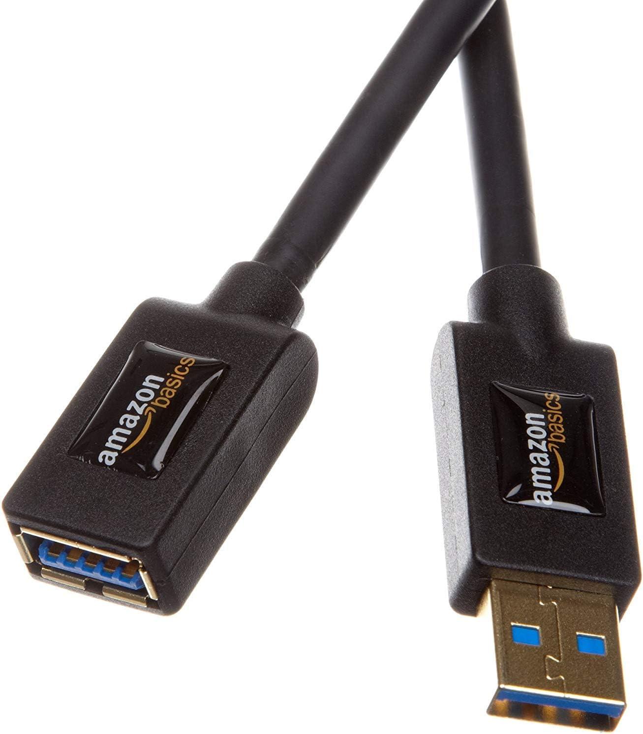 AmazonBasics - Cable alargador USB 3.0 tipo A macho a tipo A ...