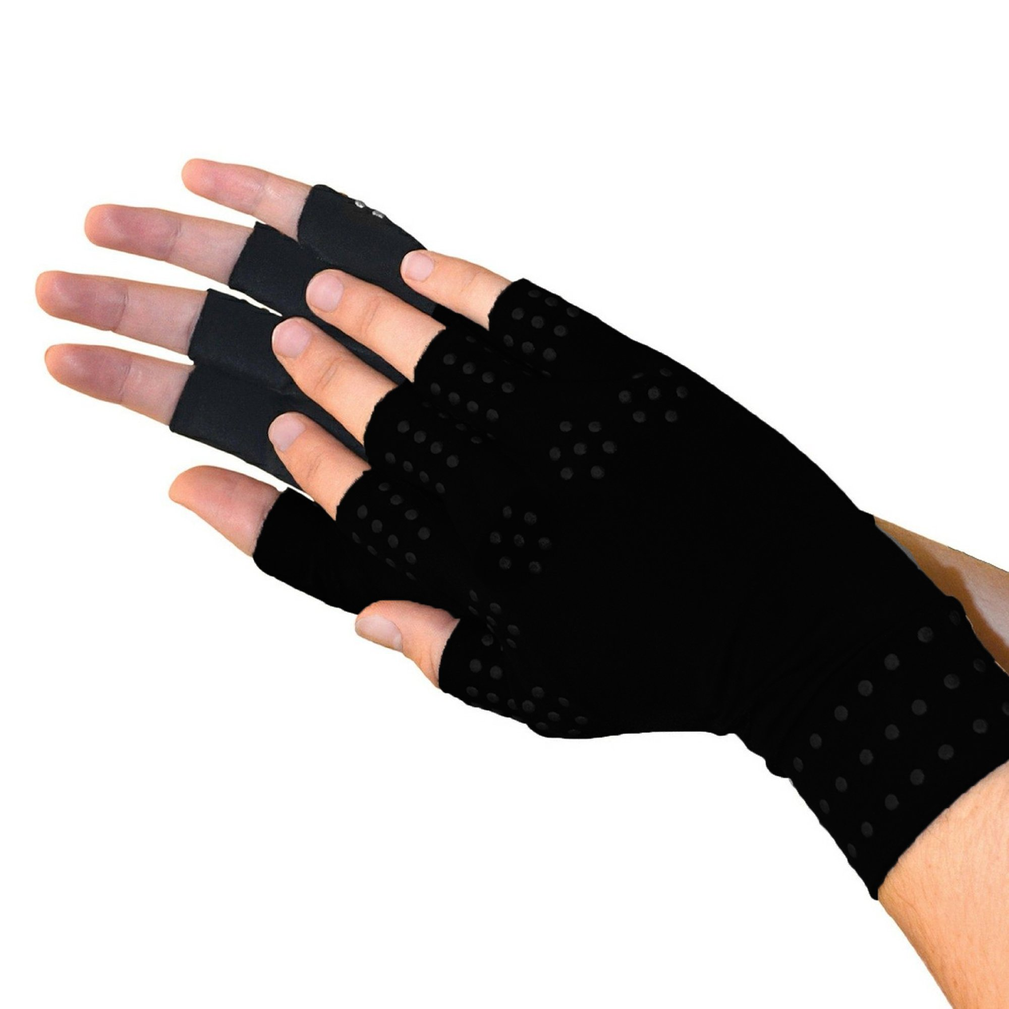 Magnetic Anti-Arthritis Health Therapy Pain Relief Gloves - Black