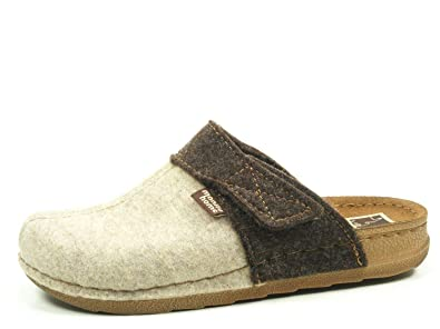 Amazon.com | Manitu Home Damen-Pantolette Beige 320522-8 | Loafers & Slip-Ons