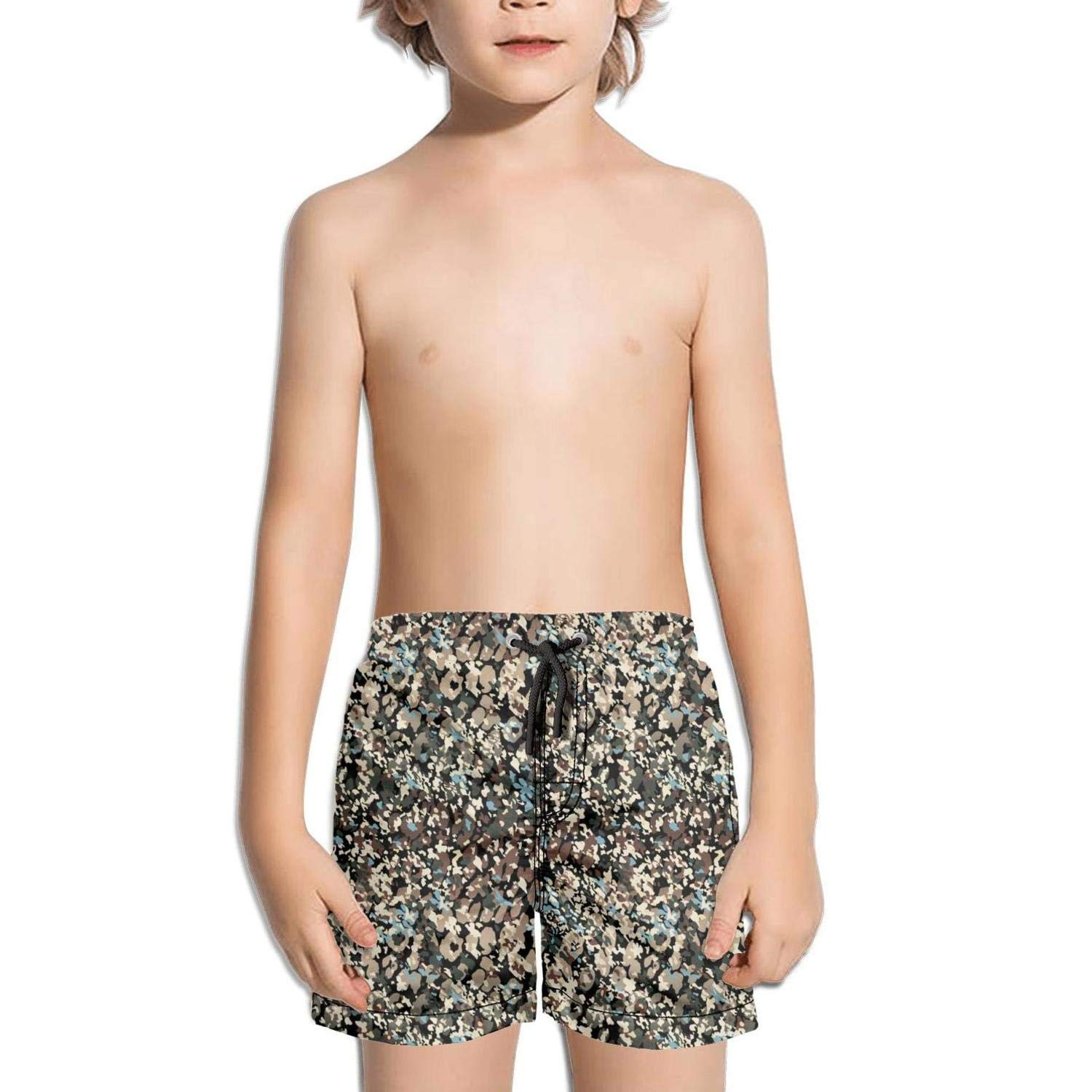 Kids Real camo Camouflage Swimming Trunks Jogging Summer Knee Length Boardshorts