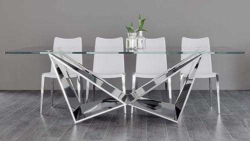 Zuri Modern Serra 94 Inch Dining Table