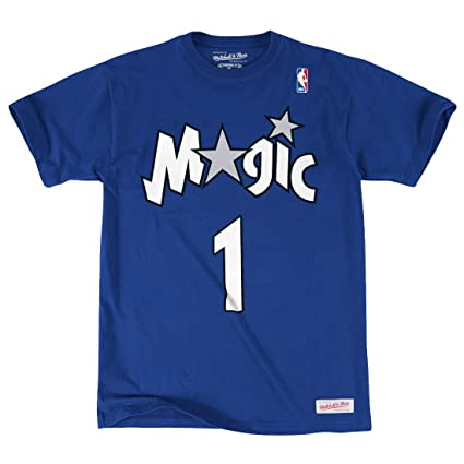 afb08559c43 Image Unavailable. Image not available for. Color  Mitchell   Ness Tracy  McGrady Orlando Magic NBA Men s Player S S T-Shirt