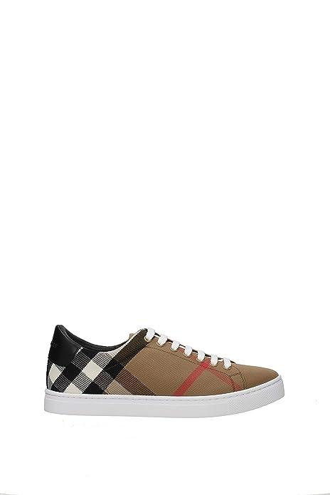 separation shoes 260ac 31523 Burberry Sneakers Scarpe Uomo in Tessuto e Pelle Modello ...