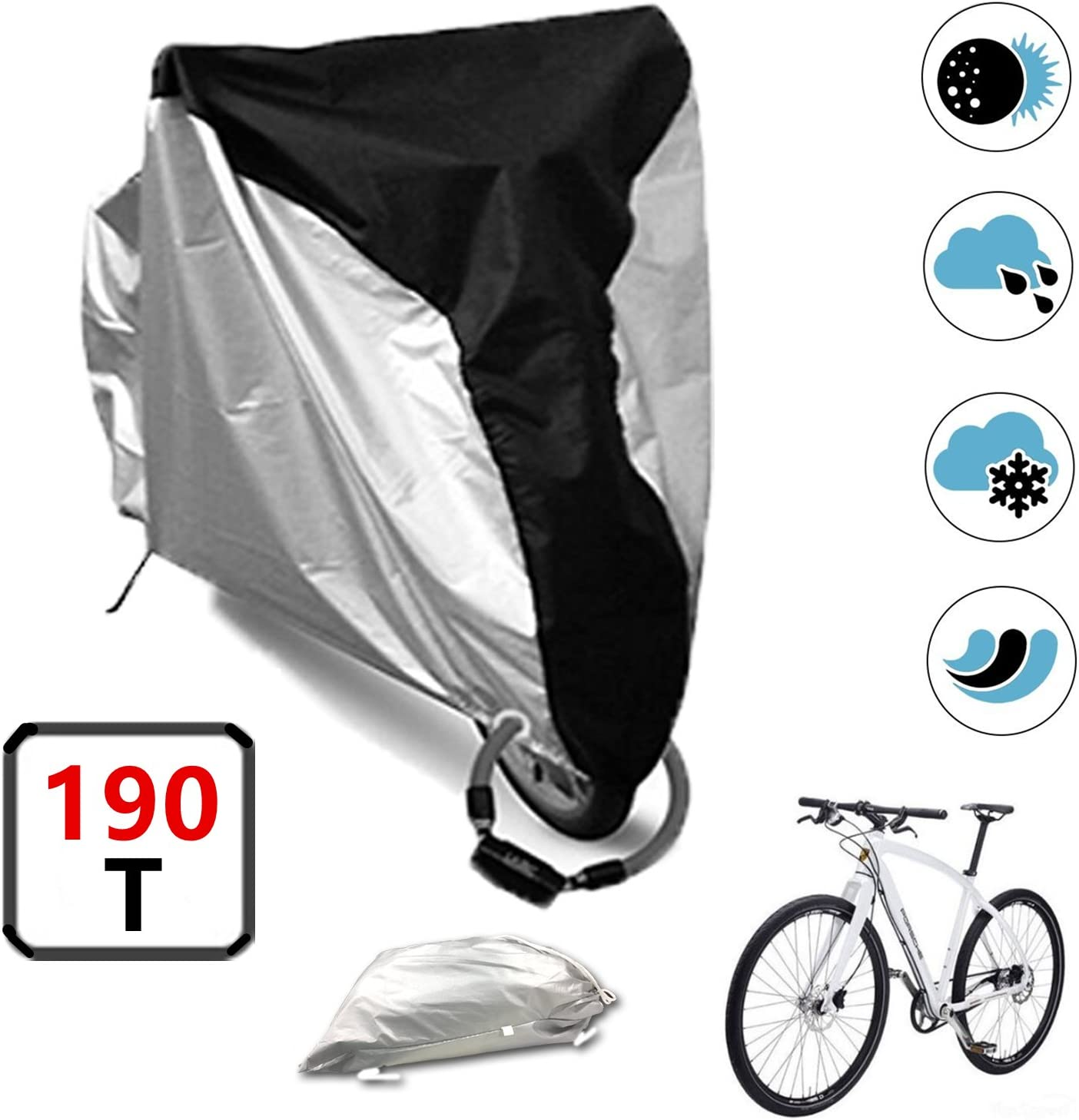 Details about  /Bicycle Rain Cover Bike Outdoor Waterproof Sun Dust Protector Cycling