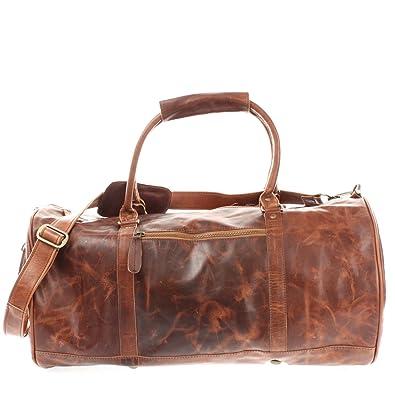 8babb12b29b640 LECONI Reisetasche für Damen & Herren Ledertasche Weekender groß Sporttasche  Männer + Frauen Handgepäck Sporttasche echtes
