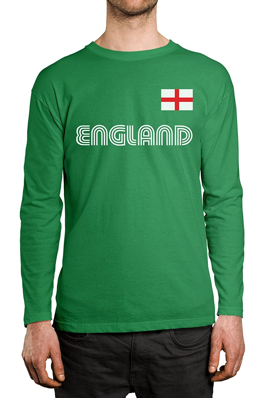 SpiritForged Apparel England Soccer Jersey Men's Long Sleeve Shirt ENG-01_MENSLONG-$P