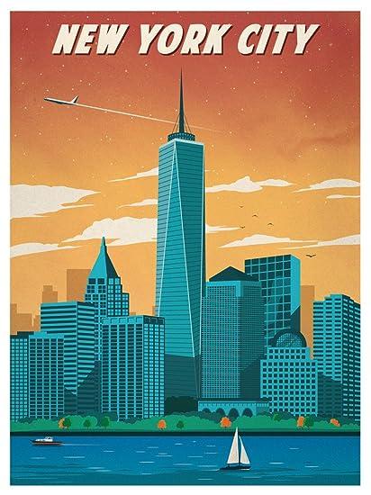Art Deco Poster New York.Amazon Com Vintage Travel New York Art Deco Poster 32 Inch X 24