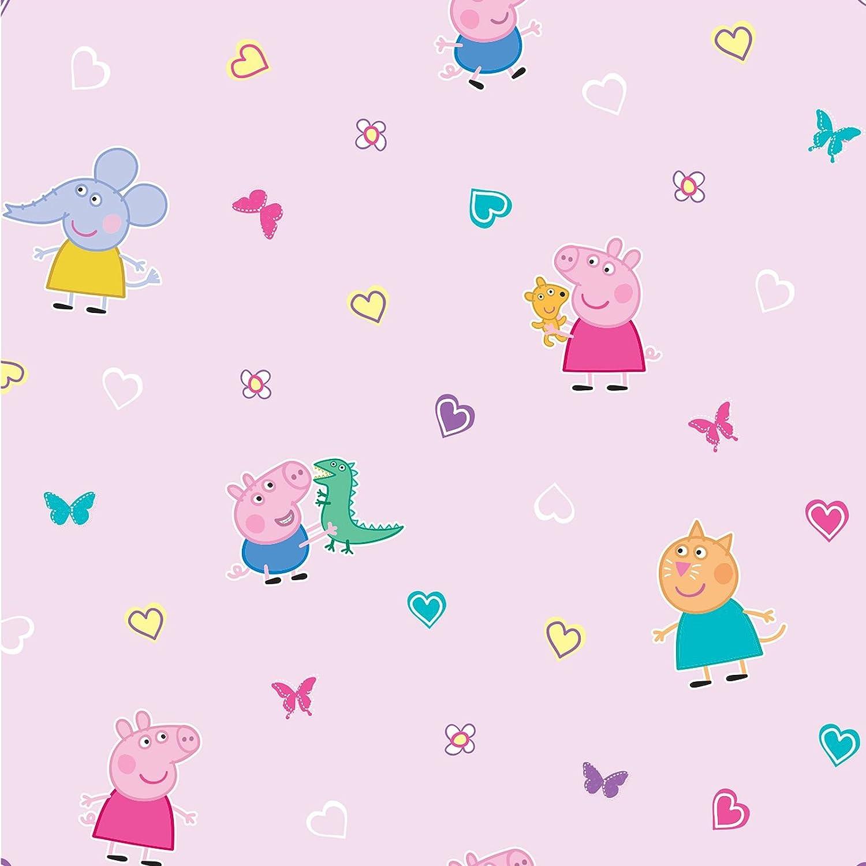 Pink Children Wallpaper Peppa Pig Kids Bedroom Wallpaper Decoration