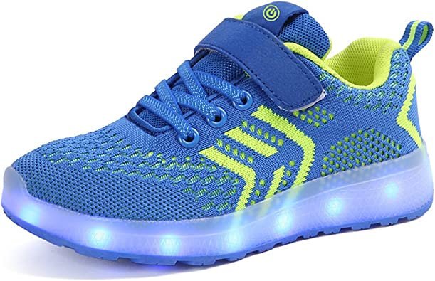 Unisex LED Carga 7 Colores USB Zapatos de Los Zapatos Luminosos Zapatos Deportivos con Luces Sneakers Zapatillas de Running para Niños Niñas Hombres Mujeres: Amazon.es: Zapatos y complementos