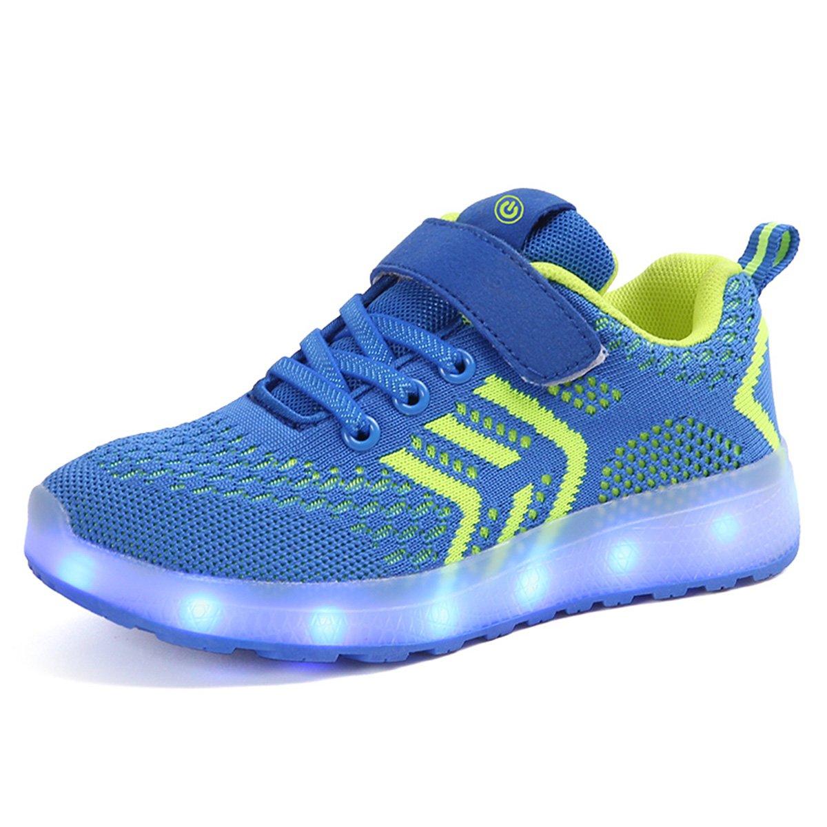 DoGeek- Enfant Chaussure Basket Lumineuse pour Garcon Fille -7 Couleurs LED lumière...