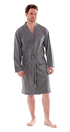 Mens Easy Care Cotton Jersey Summer Robe Dressing Gown At Amazon