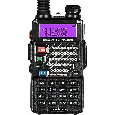 Baofeng UV-5R+ Plus UHF VHF Long Range Dual Band Ham Amateur Two Way Radio, Black: Car Electronics