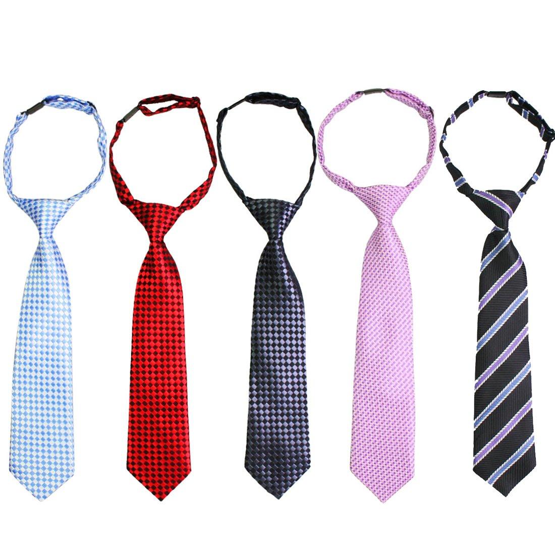 Kilofly allacciate Cinghia del collo regolabile-Cravatta da bambino, Set da 5