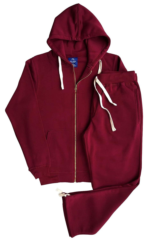 Mens Sweat Fleece Suit Sweatpants Sweat Jacket Top and Bottom Outfit