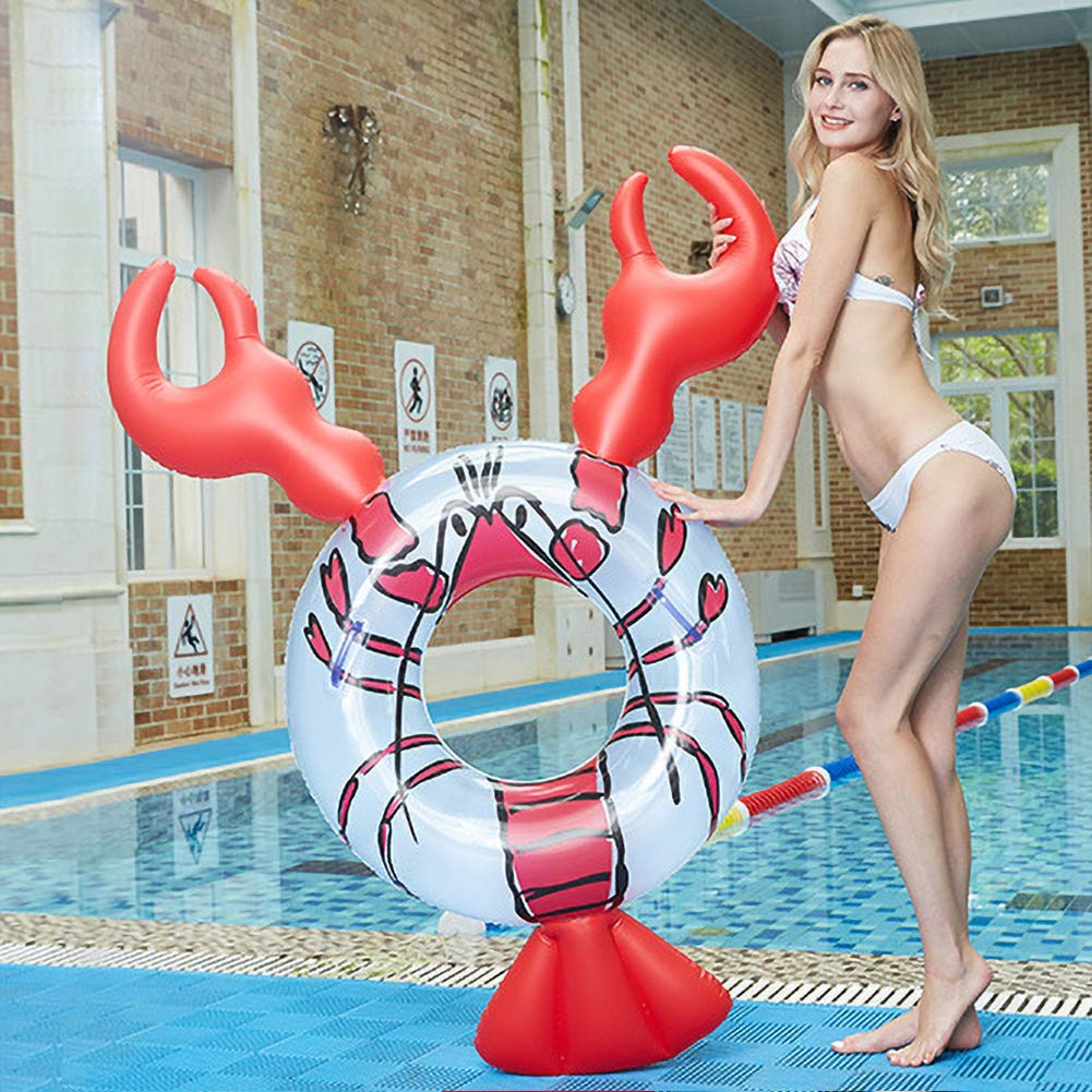 JUST N1 Inflatable Float Row Ins Lobster Animal Floating Hammock Water Air Bed Swimming Pool Lounge for Adult Children Seaside Water Entertainment by JUST N1 (Image #5)