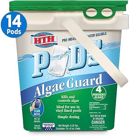 Amazon Com Hth 67157 Algae Guard Pods Swimming Pool Algaecide Cleanser 14 Ct Garden Outdoor