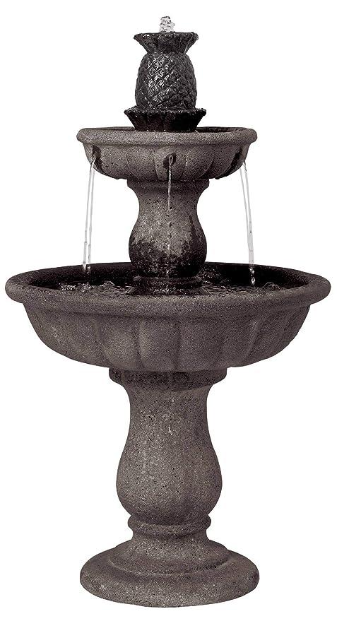 eaa2baefe76 Amazon.com   John Timberland Italian Classic Two Tier Outdoor Floor Water  Fountain 37